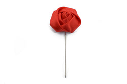 Lapel Pin - Rose Red