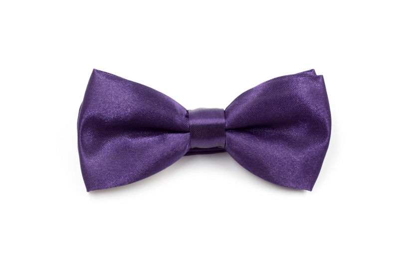Boys Bow Tie - Eggplant Purple