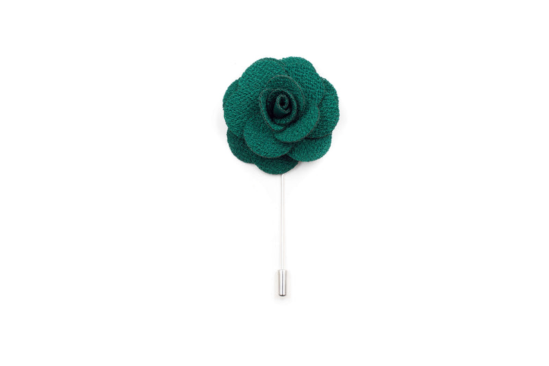 Emerald Green Flower Lapel