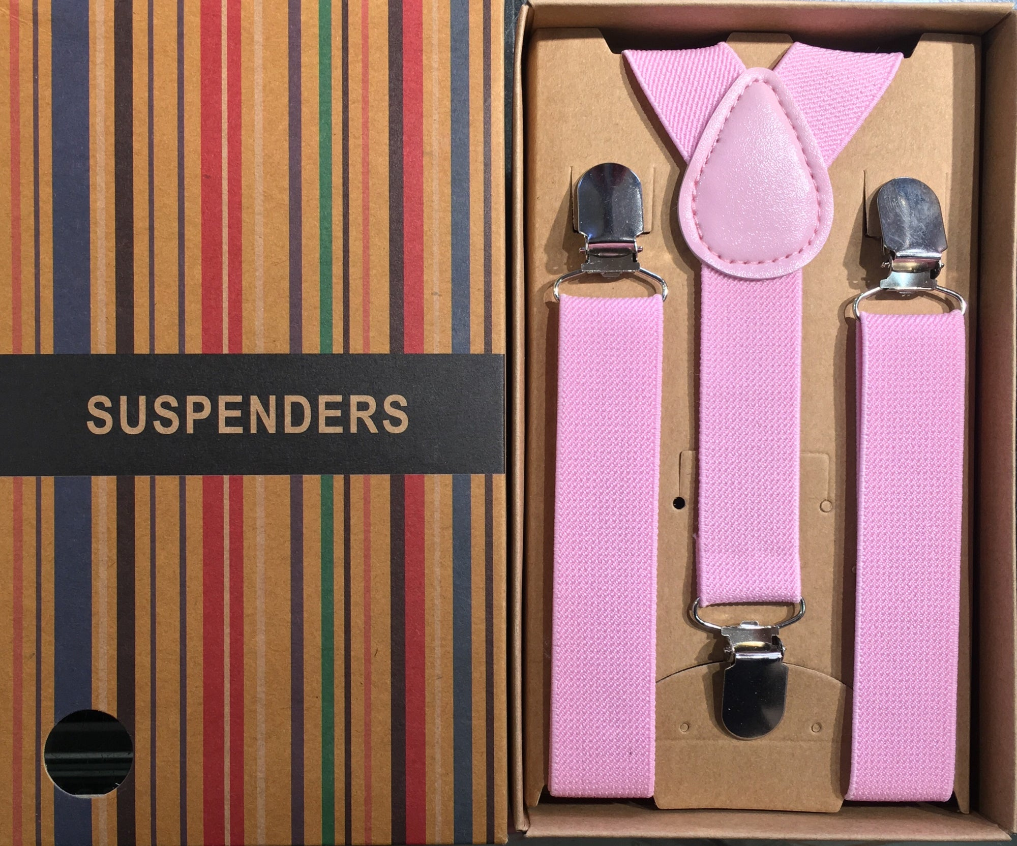 Boys Suspenders/Bracers - Pink