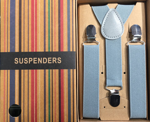 Baby Boys Suspenders/Bracers - Grey