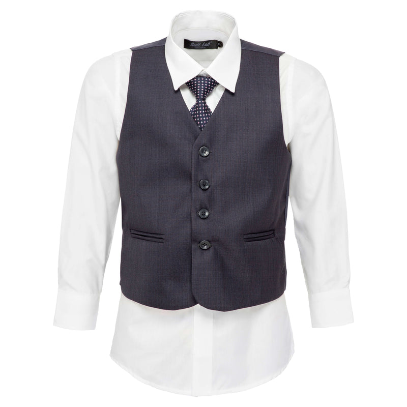 Boys Steel Blue Grey Vest