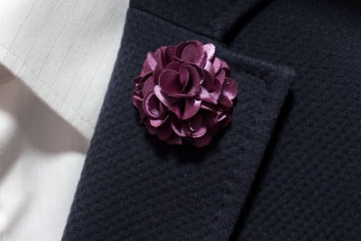Mauve Purple Lapel