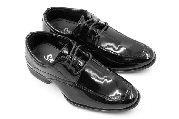 Sydney Derby Shoes - Patent Black