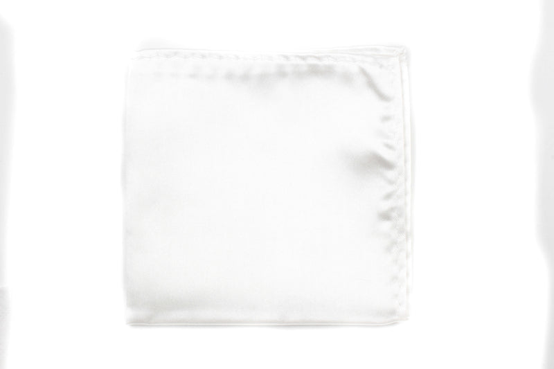 Pocket Square - White