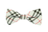 Boys Bow Tie - White Checkered