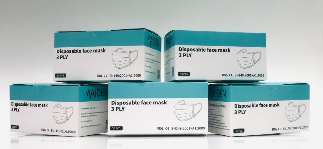 3-PLY Disposable Face Mask - 50pcs/box