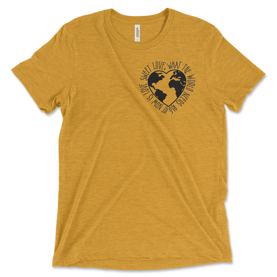 what-the-world-needs-now-is-love-heather-mustard-bella-and-canvas-short-sleeve-adult-unisex-tee-shirt-fab five print shop