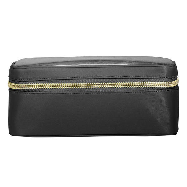 Classic Clear Open Top Pouch - Black - Give Wink