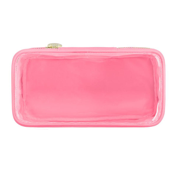 Classic Clear Open Top Pouch - Hot Pink - Give Wink