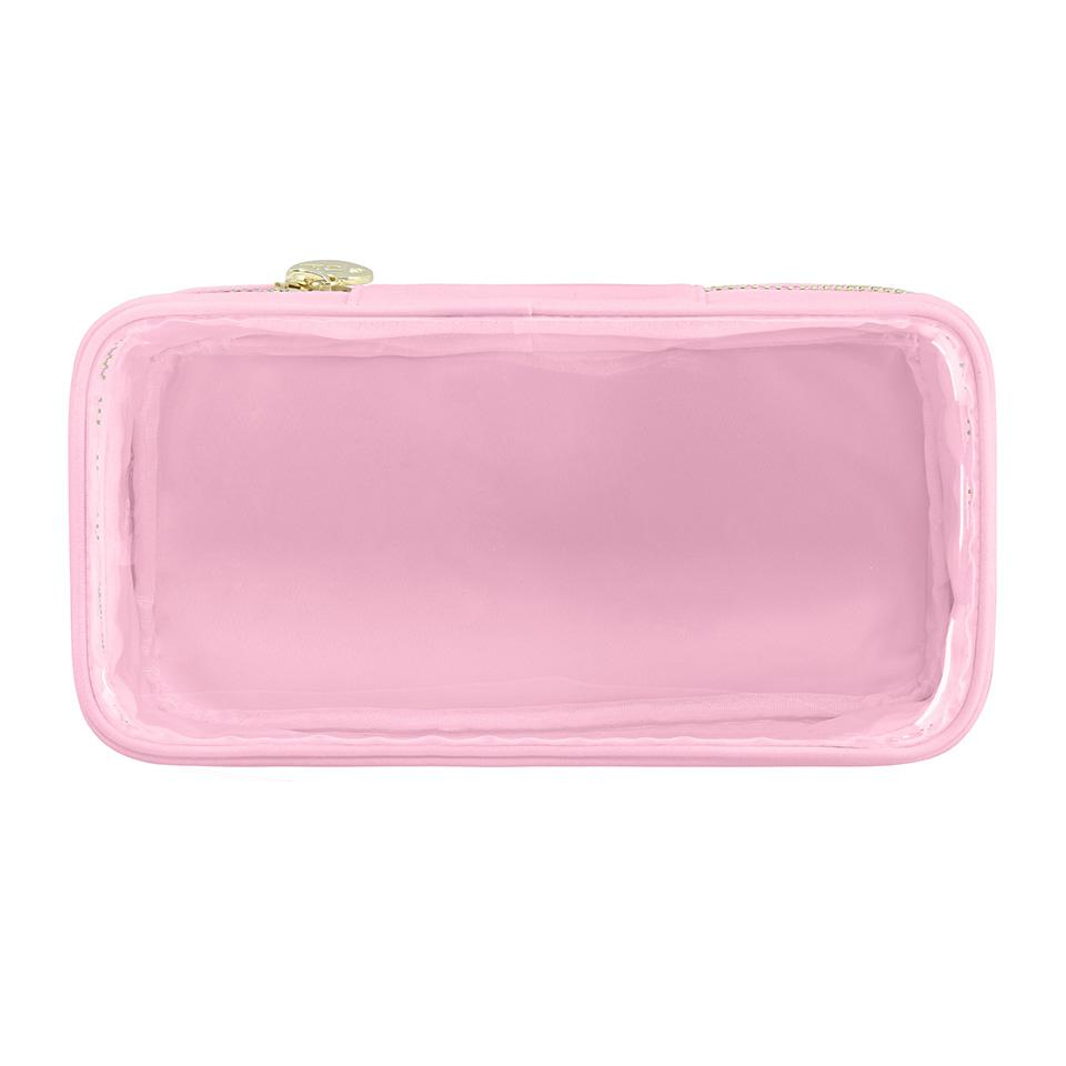 Classic Clear Open Top Pouch - Light Pink - Give Wink