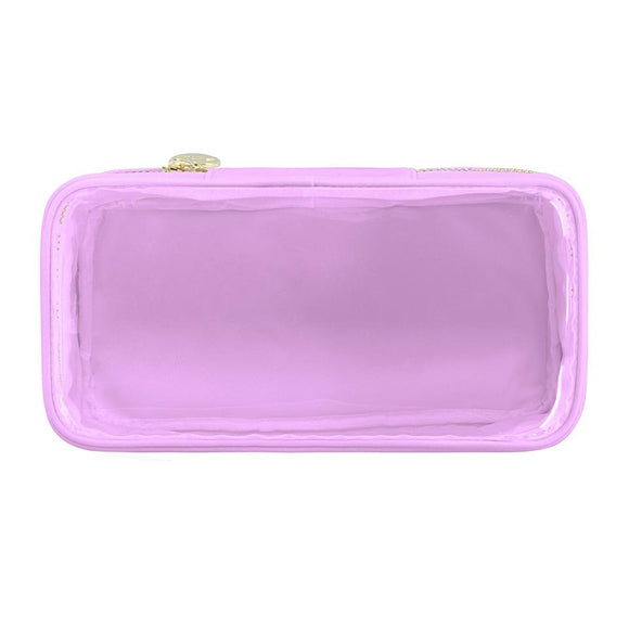 Classic Clear Open Top Pouch - Purple - Give Wink