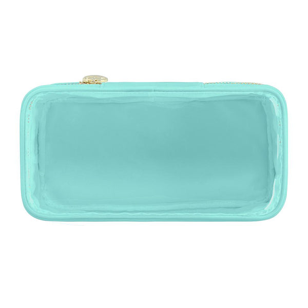 Classic Clear Open Top Pouch - Mint - Give Wink