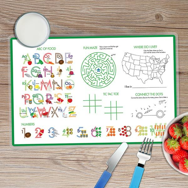 Football Fan Personalized Kids Placemat - Give Wink