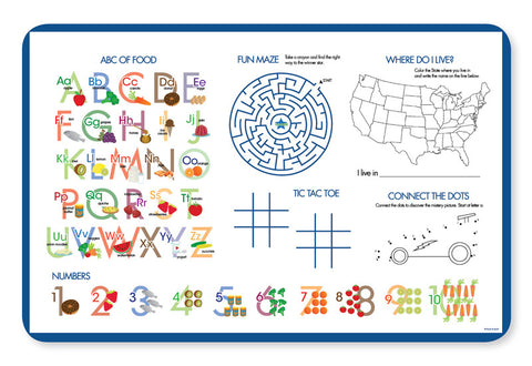 Cool Superhero Personalized Kids Placemat