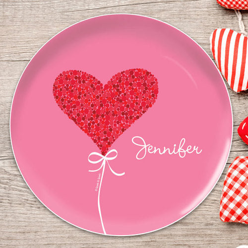 Spark and Spark. Sweet Heart Personalized Kids Plates. Miami Baby Store