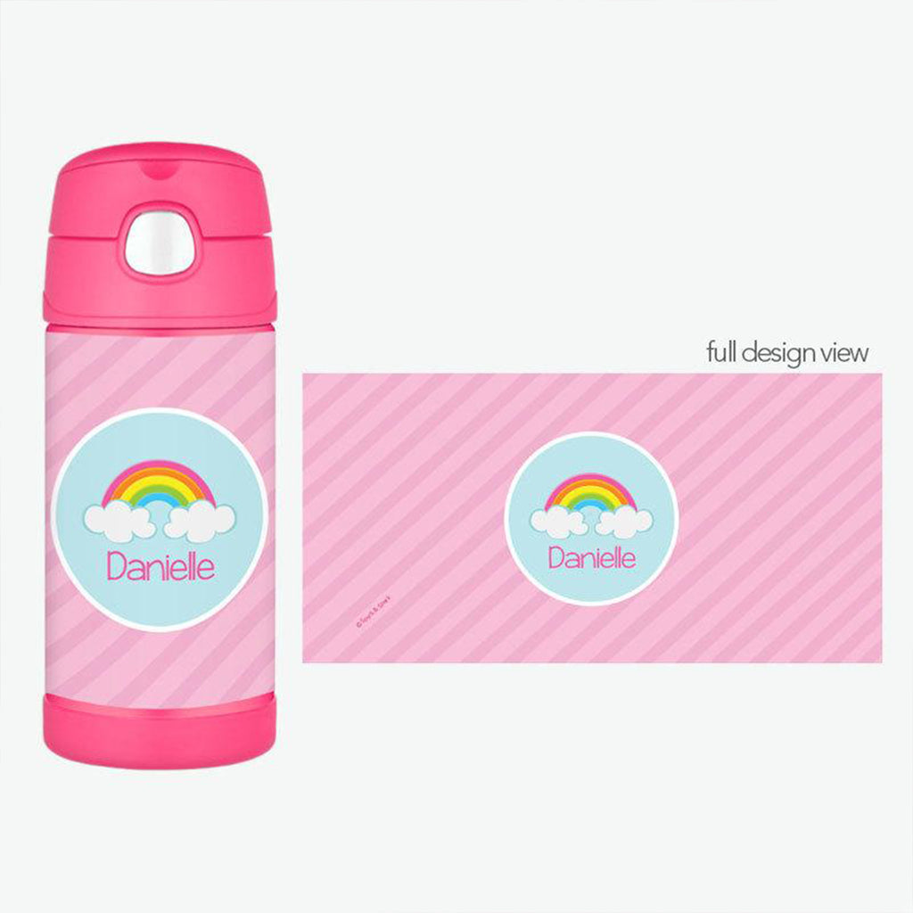 A Rainbow in the Sky Personalized Thermos Bottle - Give Wink