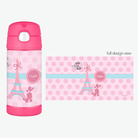 Ohh La La Paris Personalized Thermos Bottle