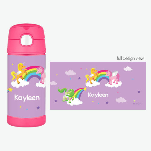 Sweet Unicorns Personalized Thermos Bottle - Give Wink