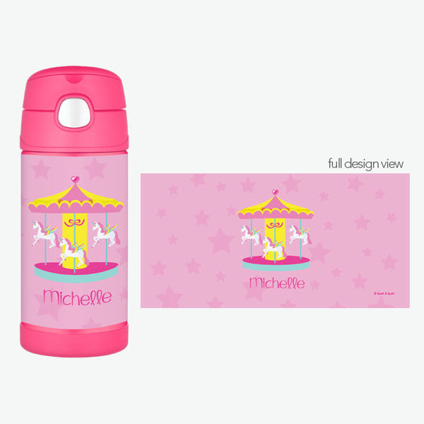 Spark & Spark. Sweet Carousel Personalized Thermos Bottle