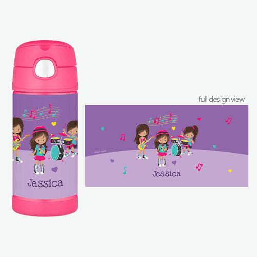 Rock and Roll Band Personalized Thermos Bottle - Give Wink