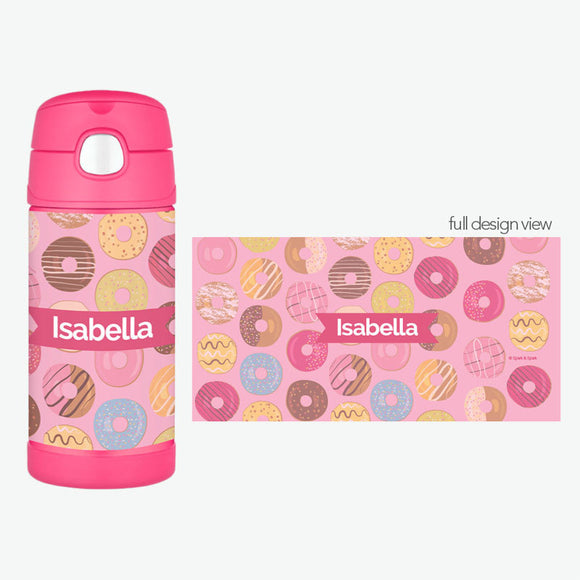 Sweet Donuts Personalized Thermos Bottle - Give Wink