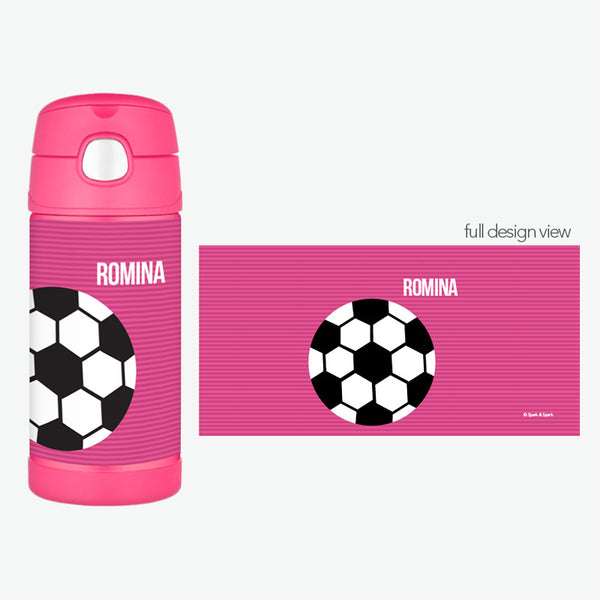 Spark & Spark. Soccer Fan Personalized Thermos Bottle