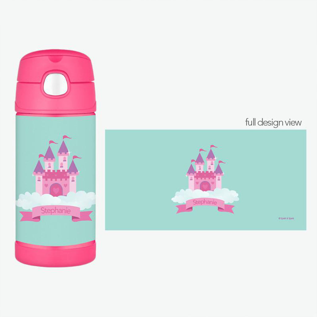 A Castle in the Sky Personalized Thermos Bottle - Give Wink