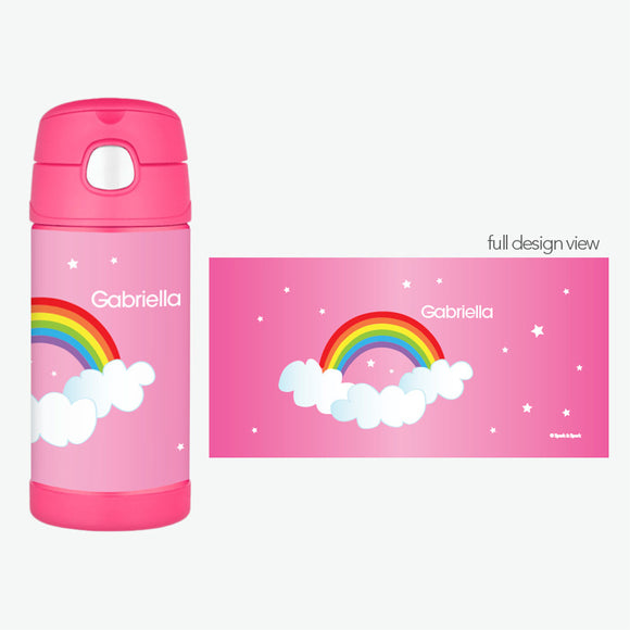 Dreamy Rainbow Personalized Thermos Bottle - Give Wink