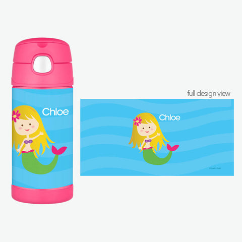 Cute Mermaid Personalized Thermos Bottle