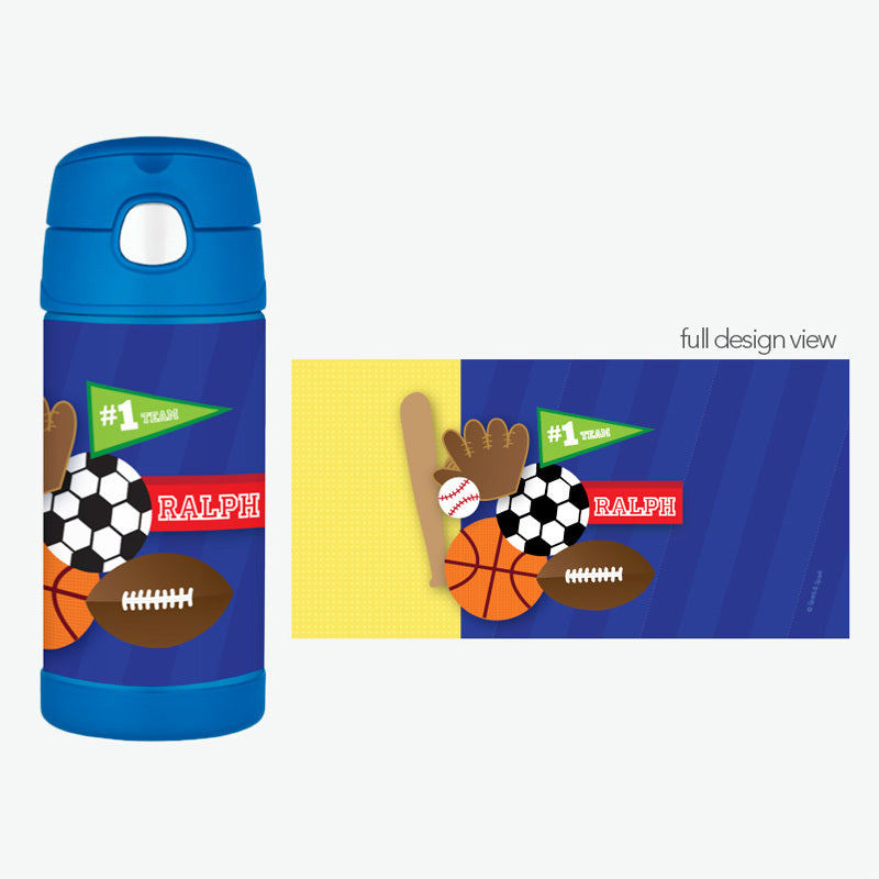 My Love for Sports Personalized Thermos Bottle - Give Wink