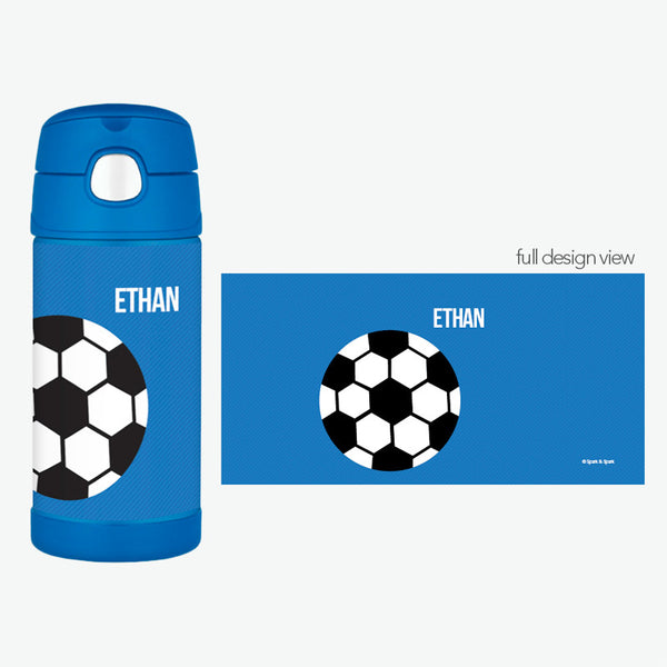 Soccer Fan Personalized Thermos Bottle