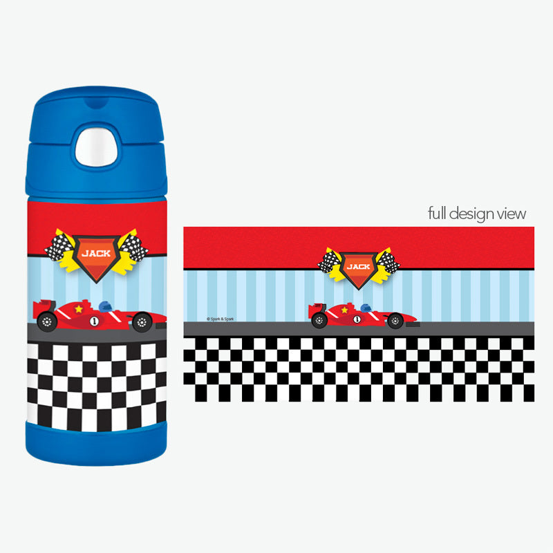 Fast Race Personalized Thermos Bottle - Give Wink