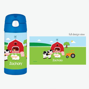 A Day in the Farm Personalized Thermos Bottle - Give Wink