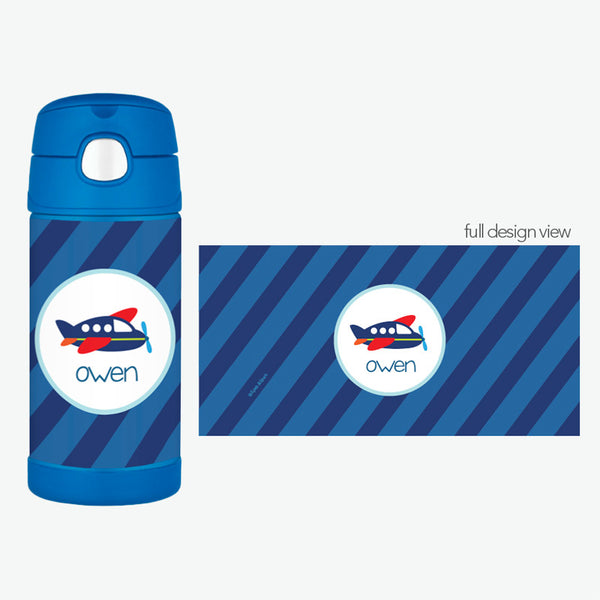 Airplane Ride Personalized Thermos Bottle - Give Wink