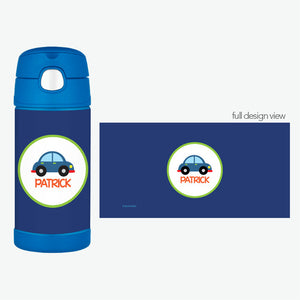 Cute Little Car Personalized Thermos Bottle - Give Wink