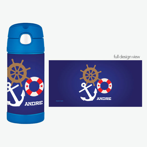 Nautical Ways Personalized Thermos Bottle - Give Wink