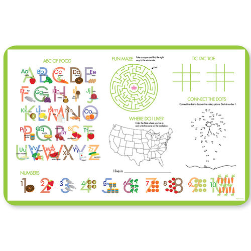Cute Undersea Creatures Personalized Kids Placemat - Give Wink