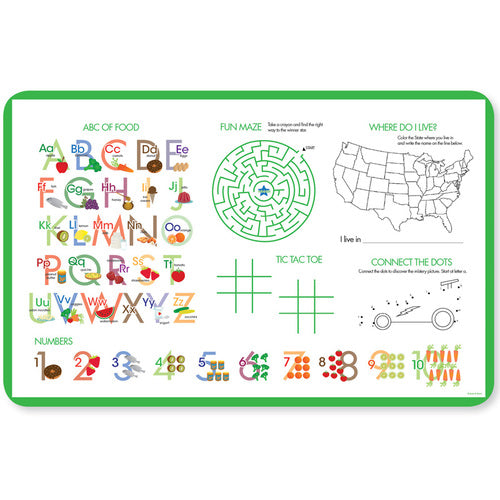 Soccer Fan Personalized Kids Placemat - Give Wink