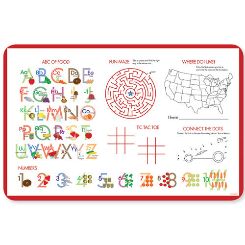 Fast Race Personalized Kids Placemat - Give Wink