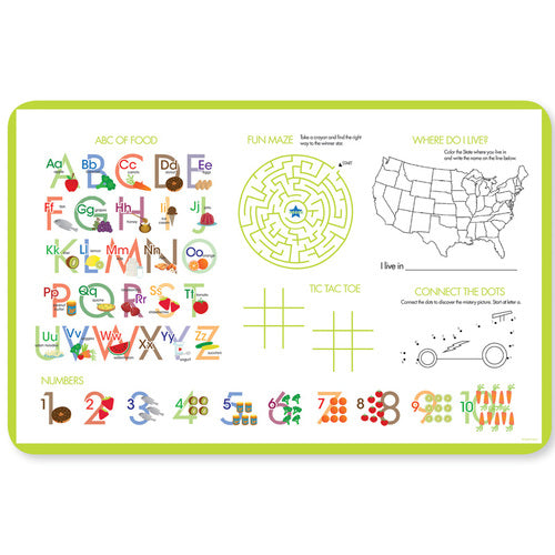 Cute Little Car Personalized Kids Placemat - Give Wink