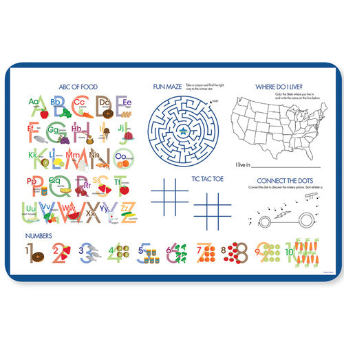 Choo Choo Train Personalized Kids Placemat - Give Wink