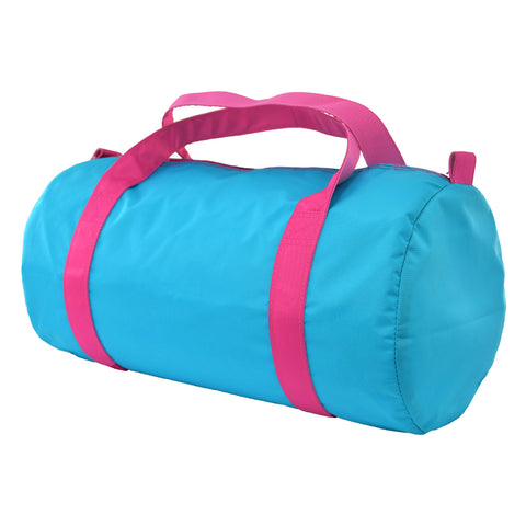 Aqua/Hot Pink Nylon Duffel