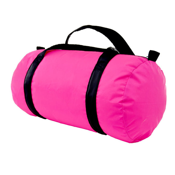 Hot Pink/Black Nylon Duffel - Give Wink