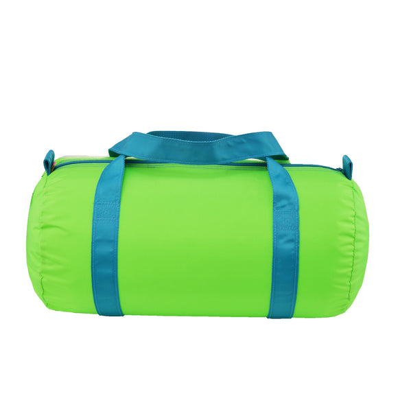 Lime/Aqua Nylon Duffel - Give Wink