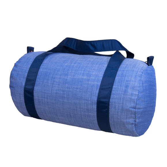 Navy Chambray Duffel - Give Wink