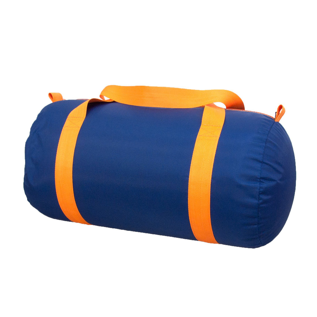 Navy / Orange Nylon Duffel - Give Wink