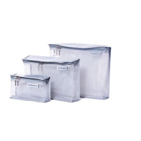 Toiletry Cubes S/3 - Grey
