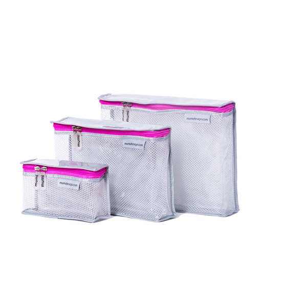 Toiletry Cubes S/3 - Pink
