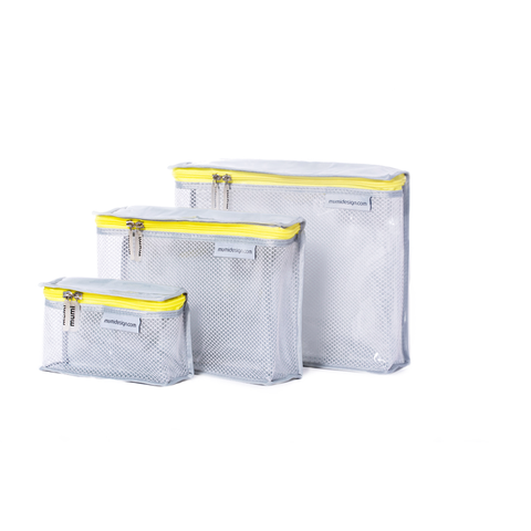 Toiletry Cubes S/3 - Yellow